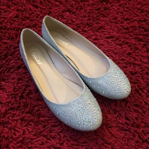 0e770c9b3 bonnibel Shoes   Silver Rhinestone Flats Wedding   Poshmark